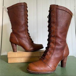 UGG Rosie Fleece Trimmed Heeled Boots #5503